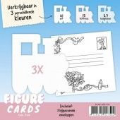 Figure Cards - Trein - Wit