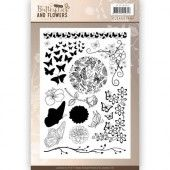 Clearstamp - Jeanines Art - Classic Butterflies and Flowers
