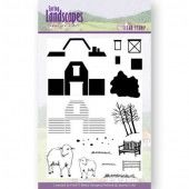 Clearstamp Text - Jeanine's Art - Spring Landscapes Farm