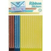 Ribbon (lint) stickers - Butterflies Copper Yellow Turquoise