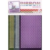 Ribbon (lint) stickers - Gingham Square Mirror