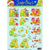 3D Knipvel - Studio Light - Jingle Bears 3