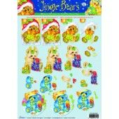 3D Knipvel - Studio Light - Jingle Bears 4