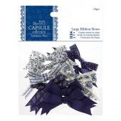 Large ribbon bows - Parisienne blue