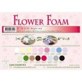 LeCrea - 10 Flower Foam sheets A4 0,8mm licht rood 25.5145 (25.5145)