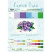 LeCrea - Flower Foam assort. 2, 6 vel A4 blauw, paars 25.4063 0.8mm (25.4063)*