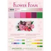 LeCrea - Flower Foam assort. 5, 6 vel A4 rood, roze 25.4094 0.8mm (25.4094)*
