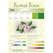 LeCrea - Flower Foam assort. 6, 6 vel A4 wit groen 25.4100 0.8mm (25.4100)*