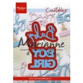 Marianne Design - Creatables Baby text boy & girl - 11x16 cm (LR0576)*