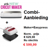 Cricut Maker™ Machine (2007002) + Cricut Easypress 9x9inch (2005553) Nu met gratis Essential toolset t.w.v. € 50,-