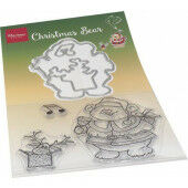 Marianne D Clear Stamp & die set Hetty's Kerst beer HT1658 120x205mm (11-20)