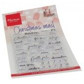 Marianne D Clear Stamps Christmas mail by Marleen (ENG) CS1070 102x180 mm (09-20)