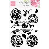 Marianne D Clear Stamps Colorful Silhouette - Rozen Cs1046 110x150mm (02-20)