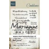 Marianne D Clear Stamps Condoleance (NL) CS1041 115x185 mm (11-19)*