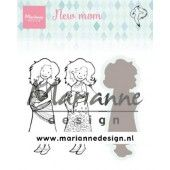 Marianne D Clear Stamps & dies Hetty's new mom HT1651 31x86,5mm (03-20)#