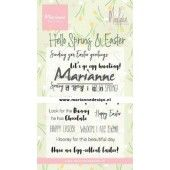 Marianne D Clear Stamps Marleen's Hello Spring & Easter (Eng) CS1044 185x120mm (02-20)