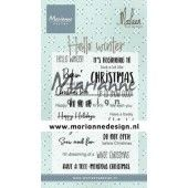 Marianne D Clear Stamps Marleen's Hello winter (Eng) CS1037 (09-19)*