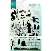 Marianne D Clear Stamps Silhouette Halloween CS1039 2110x150 cm (10-19)*