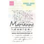 Marianne D Clear Stamps Texture stamps - tekst MM1627 95x140mm (03-20)*