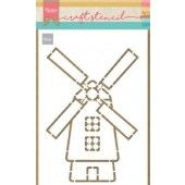 Marianne D Craft Stencil Molen PS8058 210x149mm (04-20)