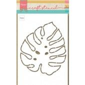 Marianne D Craft Stencil Monstera blad PS8066 149x149mm (07-20)