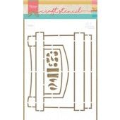 Marianne D Craft Stencil Open haard by Marleen PS8048 21x15 cm (11-19)