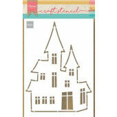 Marianne D Craft Stencil Spookhuis PS8075 21 x 15 cm (10-20)