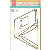 Marianne D Craft Stencil - Tent by Marleen PS8088 150x210mm (05-21)