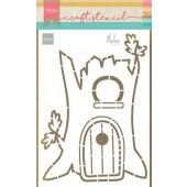 Marianne D Craft Stencil Treehouse by Marleen PS8073 22 x 15 cm (09-20)*