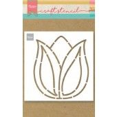 Marianne D Craft Stencil Tulp PS8060 149x149mm (04-20)