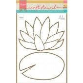 Marianne D Craft Stencil Waterlelie by Marleen PS8072 149x210mm (08-20)