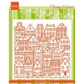 Marianne D Embossing folder Extra Grachtenpanden DF3458 152x154mm (04-20)