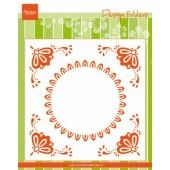 Marianne D Embossing folder Hollandse tegel DF3457 152x154mm (04-20)