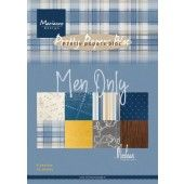 Marianne D Paperpad Men only by Marleen PK9169 A5 4x8 designs (05-20)*