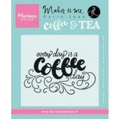 Marianne D Stempel Quote - Every day is a coffee day (EN) 9,0x11,0cm (KJ1708) (20% KORTING)