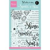 Marianne D Stempel Sparkle and shine (EN) 12,0x22,0 cm (KJ1704)*
