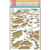 Marianne D Stencil Tiny's oceaan PS8032 149x149 mm (05-19)*