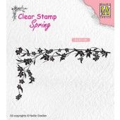 Nellies Choice Clearstempel - lente Floral corner-1 - 80x61mm (SPCS007)*