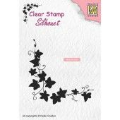 Nellies Choice Clearstempel - Silhouette klimop - 64x60mm (03-19) (SIL056)*