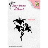 Nellies Choice Clearstempel - Silhouette lelies - 42x55mm (03-19) (SIL052)*