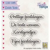 Nellies Choice Clearstempel Tekst (NL) - Prettige Feestdagen etc.. 40x10 - 56x9,9mm (10-19) (DTCS025)*