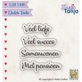 Nellies Choice Clearstempel Tekst (NL) - Veel liefs etc. 27x9,8 - 39x9,1mm (10-19) (DTCS024)*
