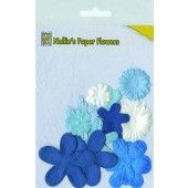 Nellie's Paper Flowers - Blue