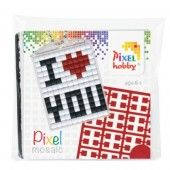 Pixelhobby medaillon startset I love you (23016)