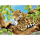 Painting by numbers LEOPARD IN TREE
