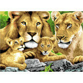 Painting by numbers PRIDE OF LIONS