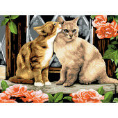 Painting by numbers KISSING KITTENS