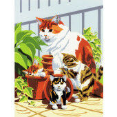 Painting by numbers CAT AND KITTENS