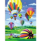 Painting by numbers HOT AIR BALLOONS
