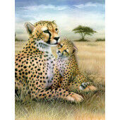 Painting by numbers LEOPARD
